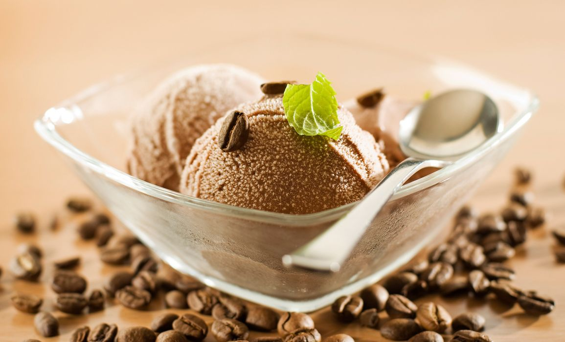 food ice cream corn coffee leaf spoon plate wallpaper