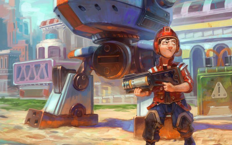 robot warrior steampunk wallpaper