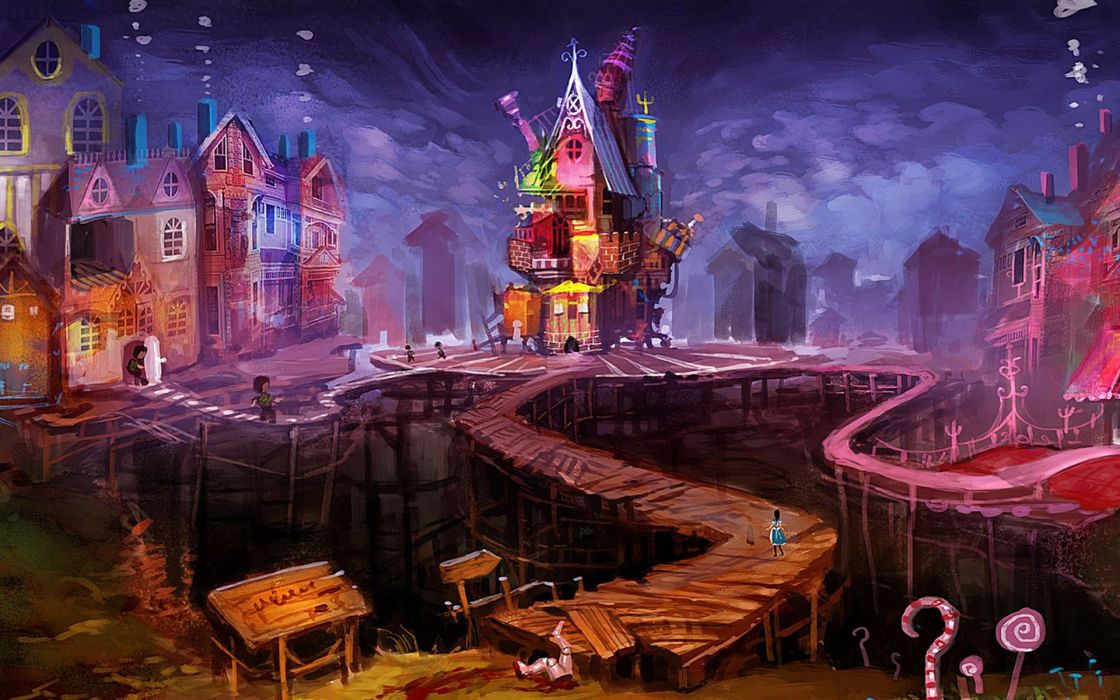 Alice Madness Returns Drawing Path Trail Alice anime wallpaper