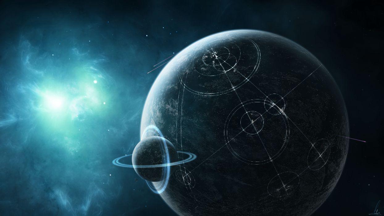 Alien Civilization Planet Stars Starlight wallpaper
