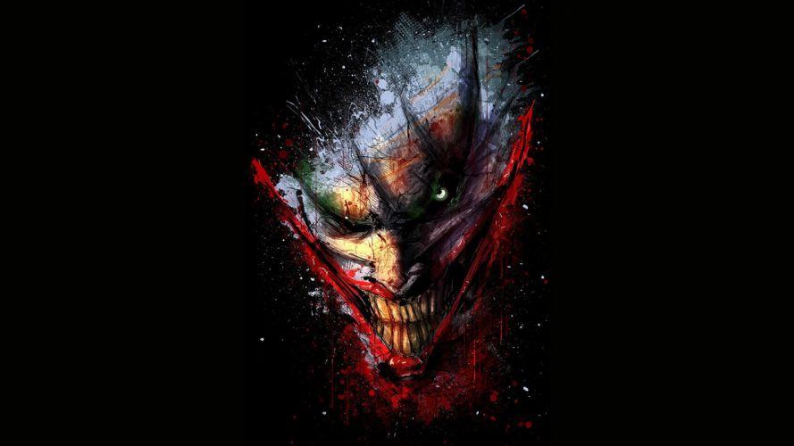 Batman Joker Black Drawing dark wallpaper