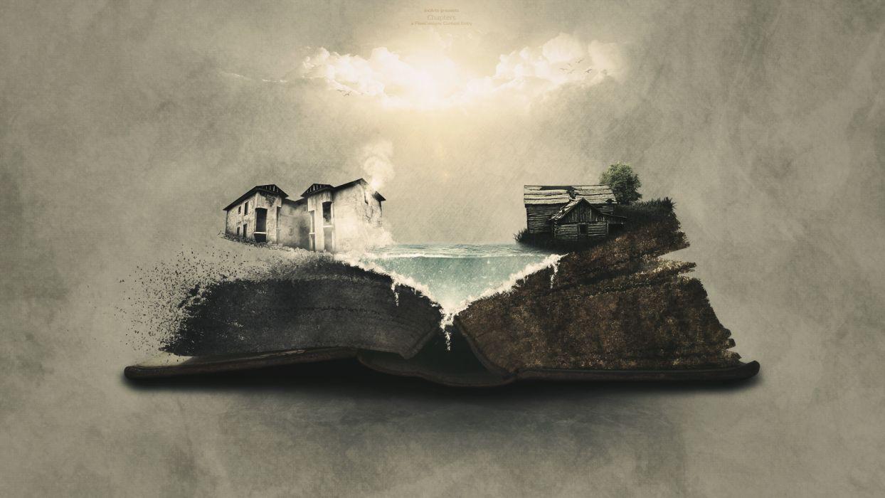 Book House Abstract bokeh wallpaper