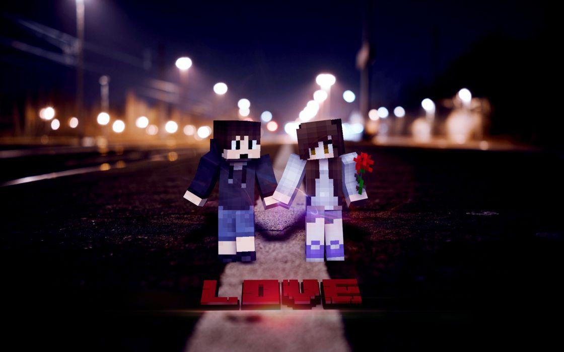 Minecraft Love wallpaper