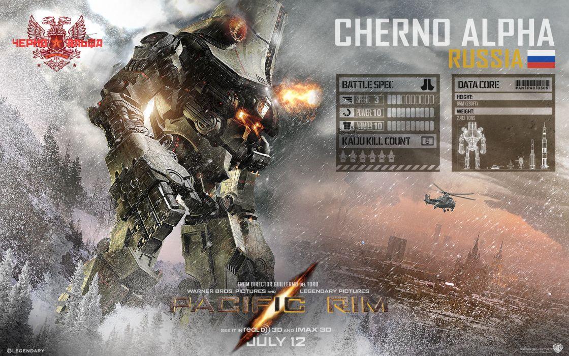 Pacific Rim Giant Robot Cherno Alpha mecha sci-fi wallpaper