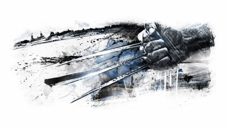 Wolverine Drawing Hand Claws White superhero wallpaper