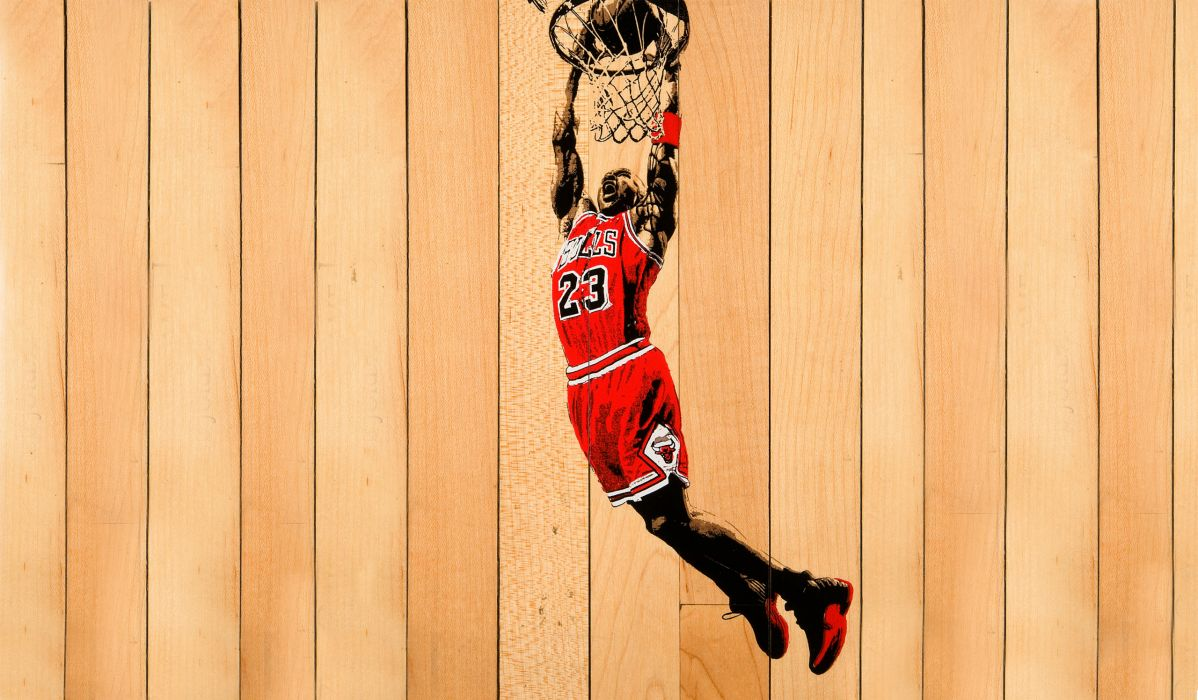 Michael Jordan Chicago Bulls NBA Basketball Red Boards wallpaper