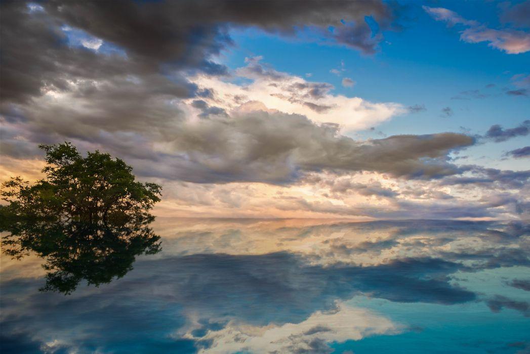 water surface lake turquoise reflection wallpaper