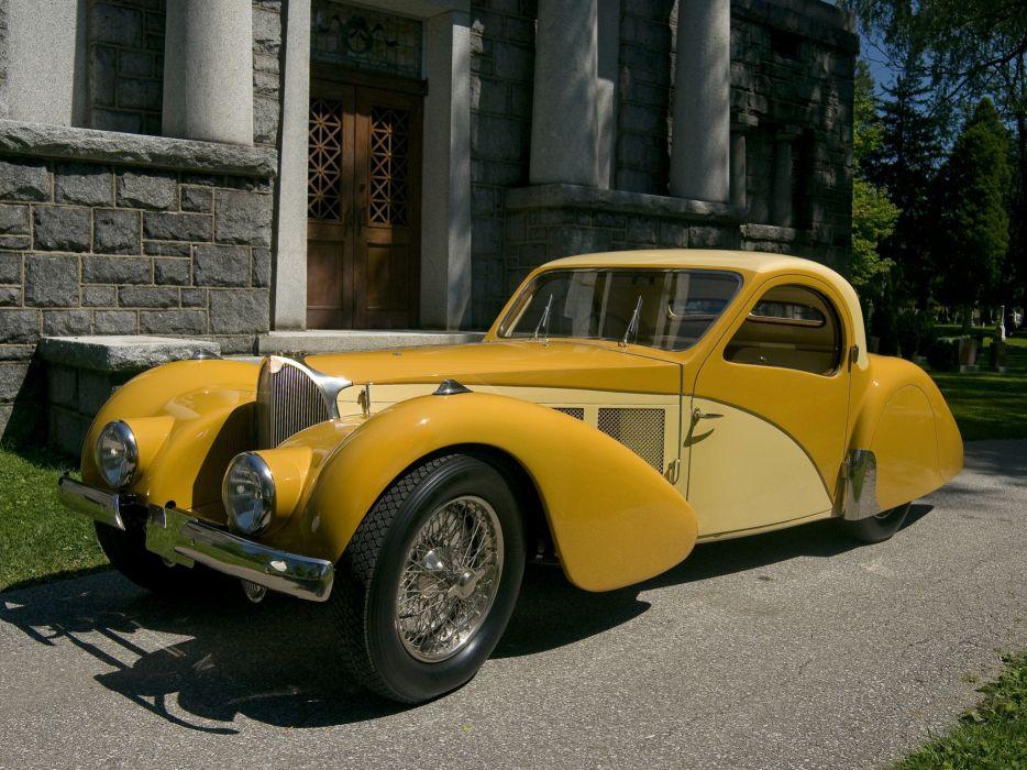 1936 Bugatti Type 57SC Atalante luxury retro b wallpaper
