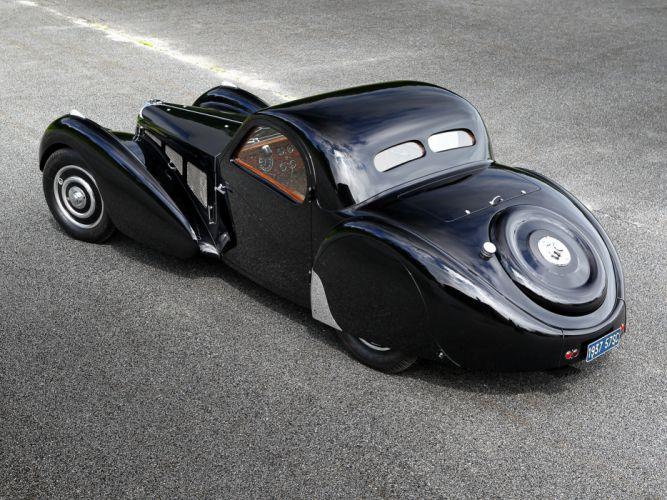 1936 Bugatti Type 57SC Atalante luxury retro wallpaper