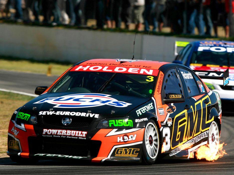 2007 Holden Commodore V8 Supercar V-E race racing v-8 fire    f wallpaper