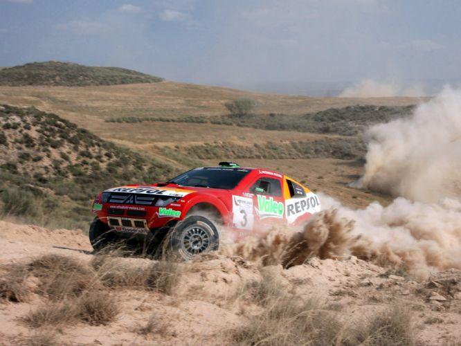 2007 Mitsubishi Pajero Montero Evolution MPR13 Dakar race racing suv offroad f wallpaper