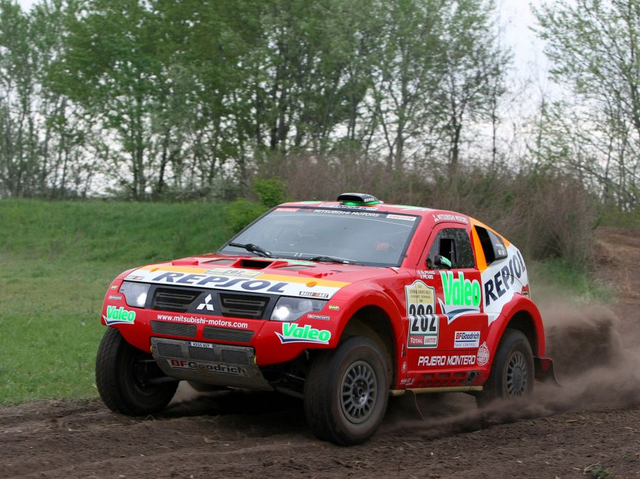 2007 Mitsubishi Pajero Montero Evolution MPR13 Dakar race racing suv offroad    t wallpaper
