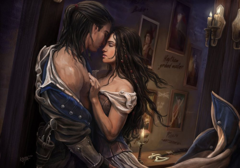 Assassins Creed 3 Love Men Games Girls Fantasy mood wallpaper