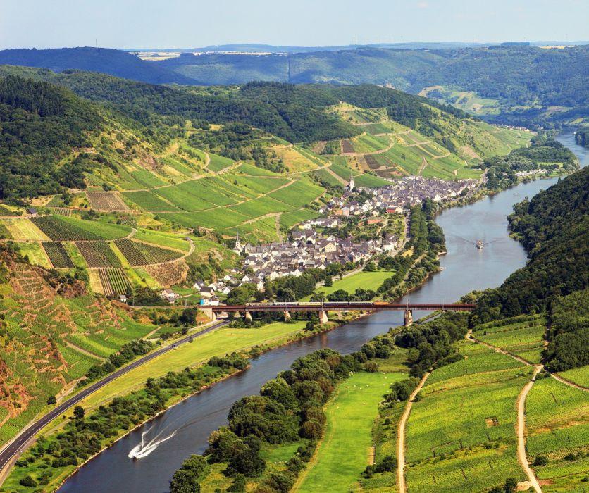 Germany Landscape Bremm Canal river wallpaper