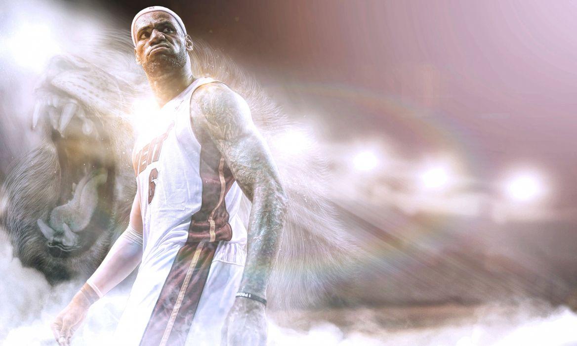 LeBron James Miami Heat Miami Heat Sports Basketball NBA Leo Standing Tattoo wallpaper