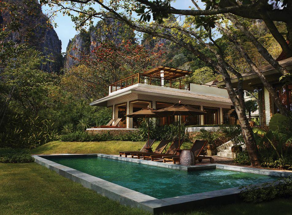 Resorts Thailand Phranang Villa Krabi Pools Bungalow wallpaper