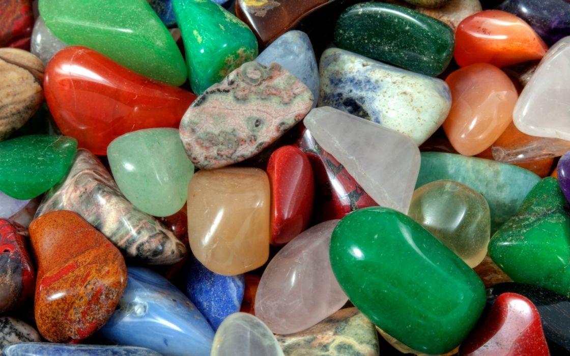 rocks minerals color close-up bokeh wallpaper