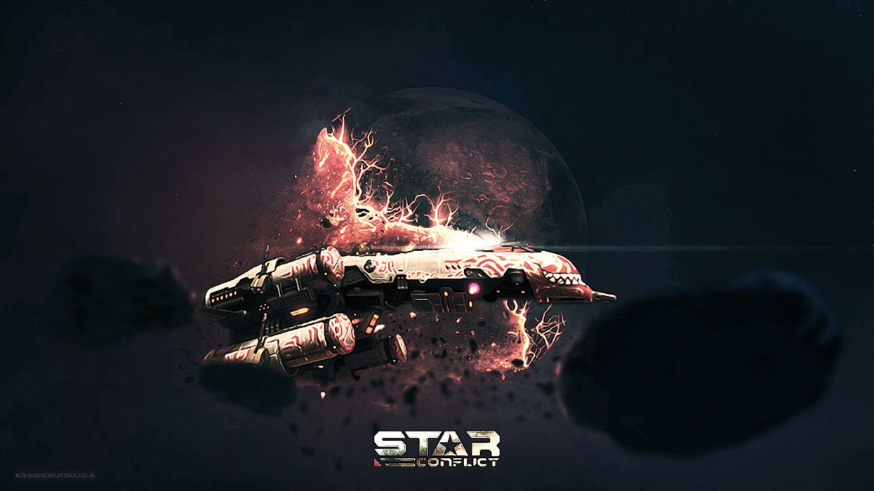 Star Conflict spaceship sci-fi space wallpaper
