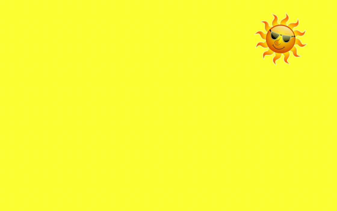sun sunglasses yellow smile smiley minimalism wallpaper