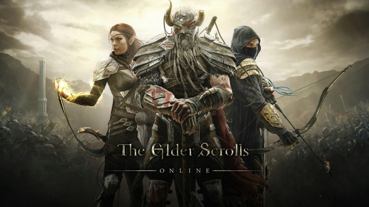 The Elder Scrolls Warriors Men Archers online Armor Games fantasy warrior wallpaper