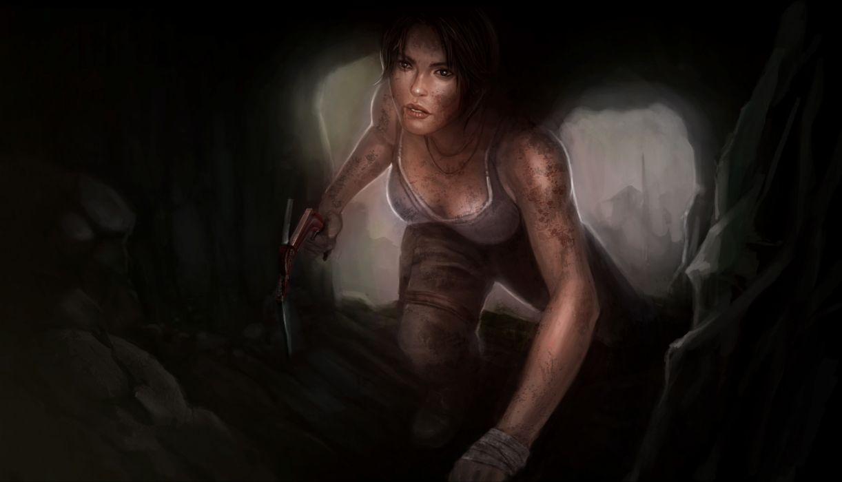 Tomb Raider 2013 Cave Lara Croft Games Girls wallpaper