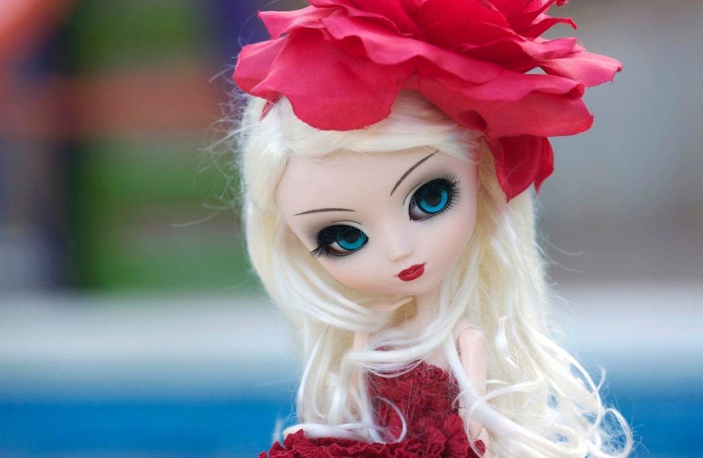 Toys Doll Blonde girl Glance Little girls Wallpapers toys dolls bokeh wallpaper