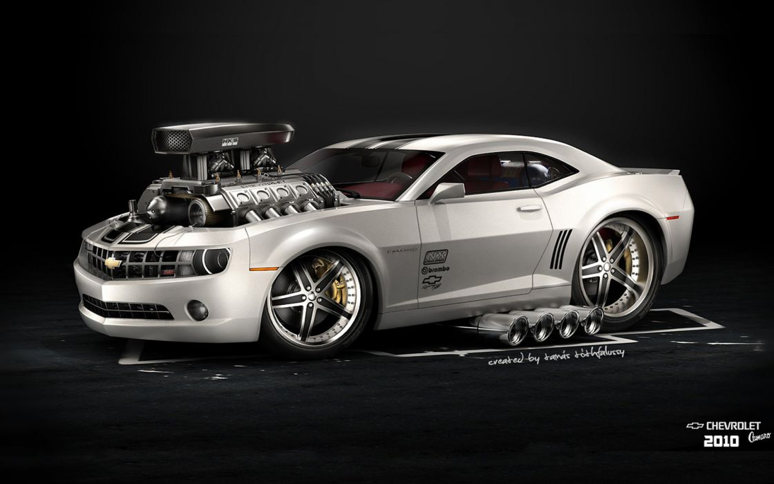 2010 chevrolet camaro car hot rod american muscle rods engine engines wallpaper