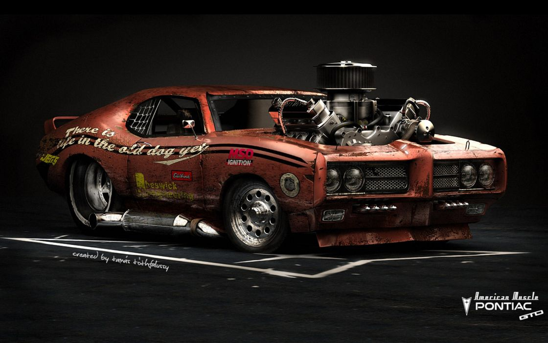 pontiac gto american muscle hot rod rods classic engine engines wallpaper