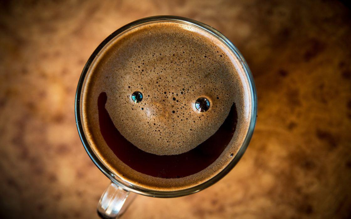 Coffee Smiley Face wallpaper