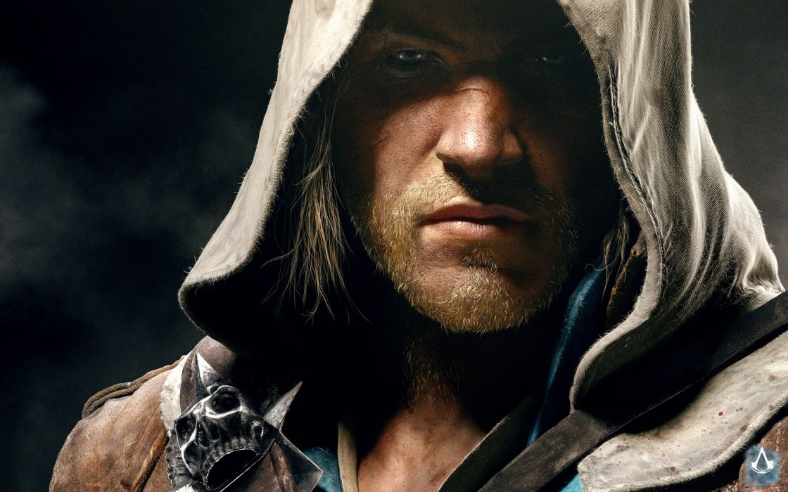 Assassins Creed Black Flag Pirate Hoodie Face fantasy wallpaper