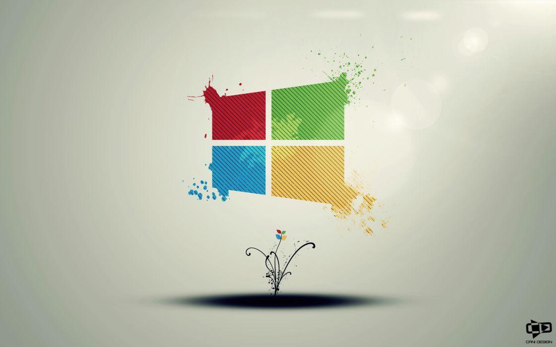 Windows logo computer wallpaper