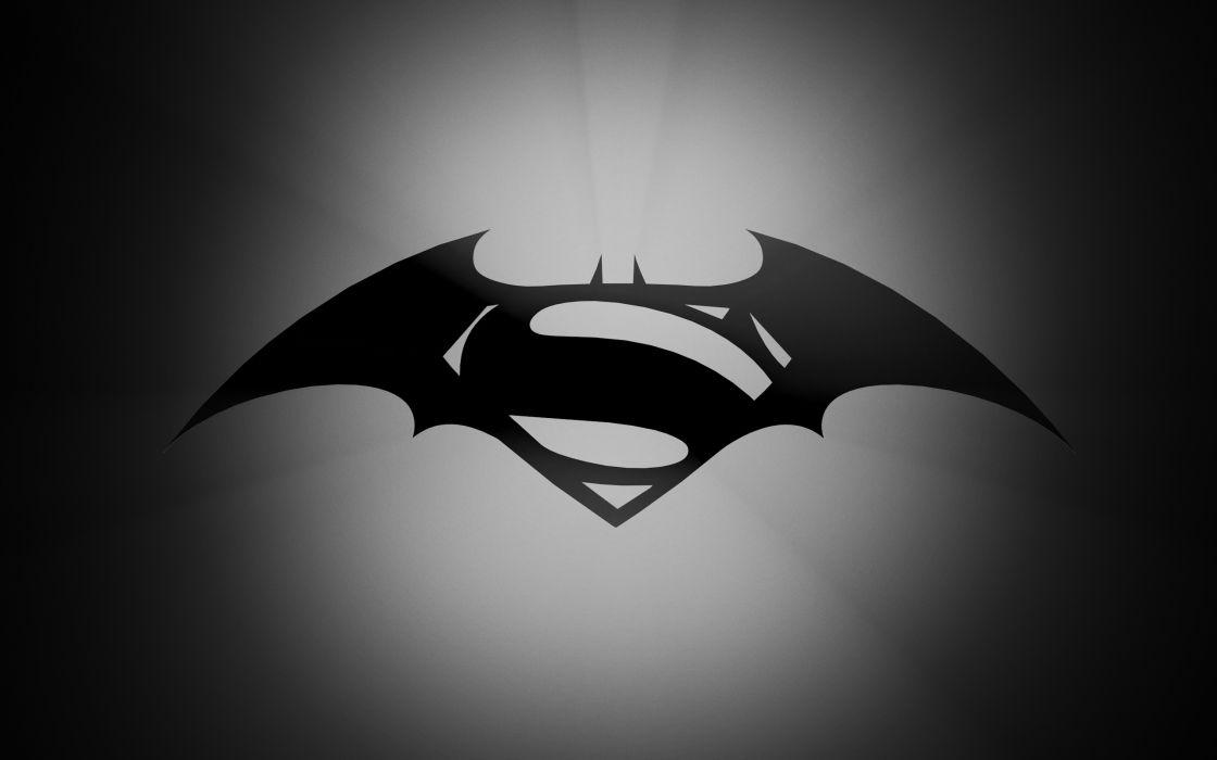 Batman Superman Gray Grey Logo D-C wallpaper