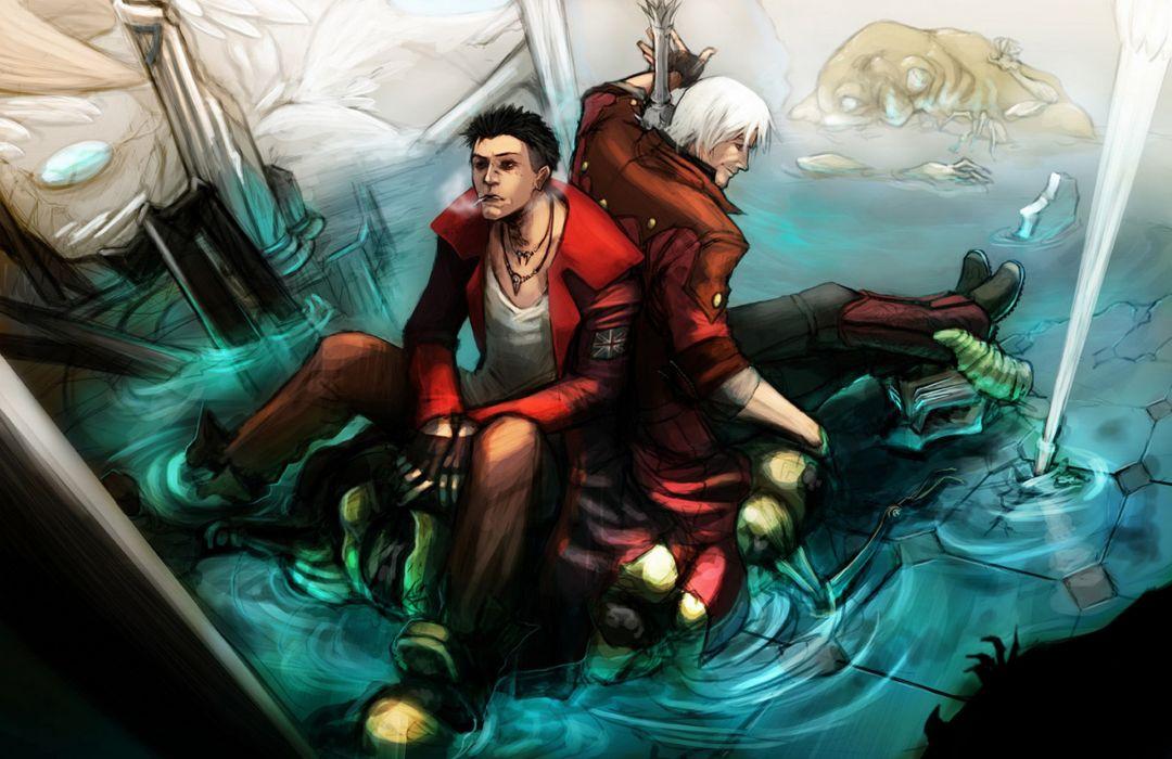 Devil May Cry Painting Art Men Games fantasy dmc wallpaper