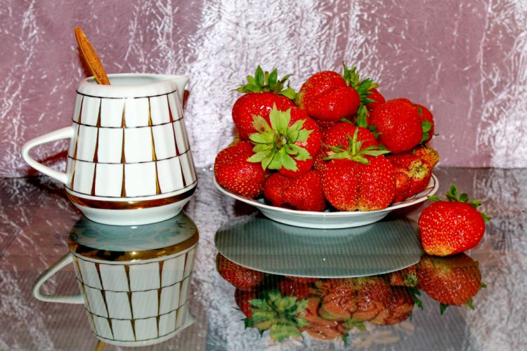 Fruit Strawberry Food Strawberries still life wallpaper