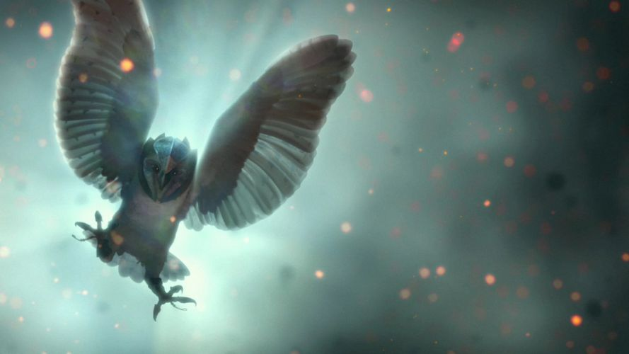 Legend of the Guardians Owls owl birds bird fantasy movies wallpaper