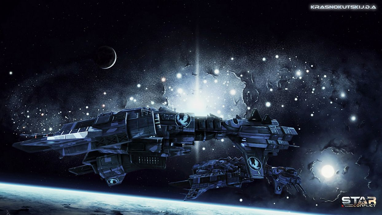 Ships Star Conflict Space spaceship space sci-fi wallpaper