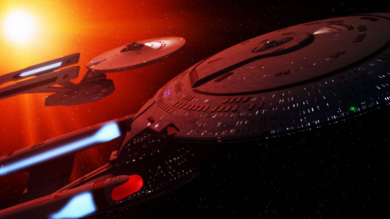 star Trek Starship Enterprise Spaceship Starlight space movies sci-fi wallpaper