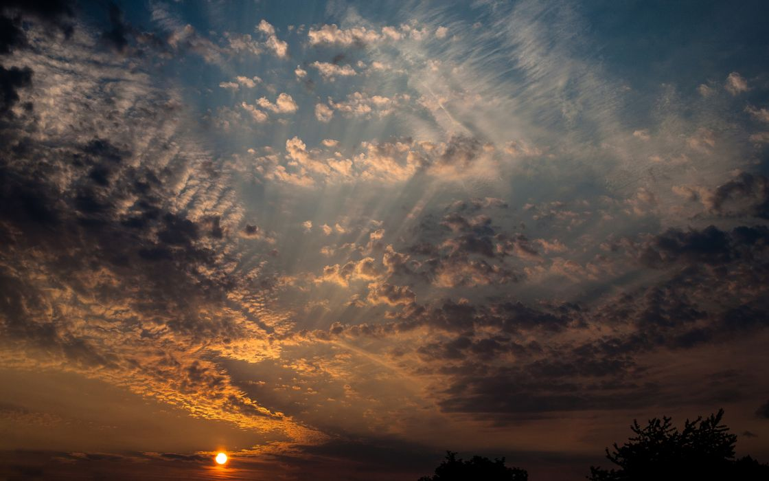 Sunlight Clouds sunset sunrise sky wallpaper