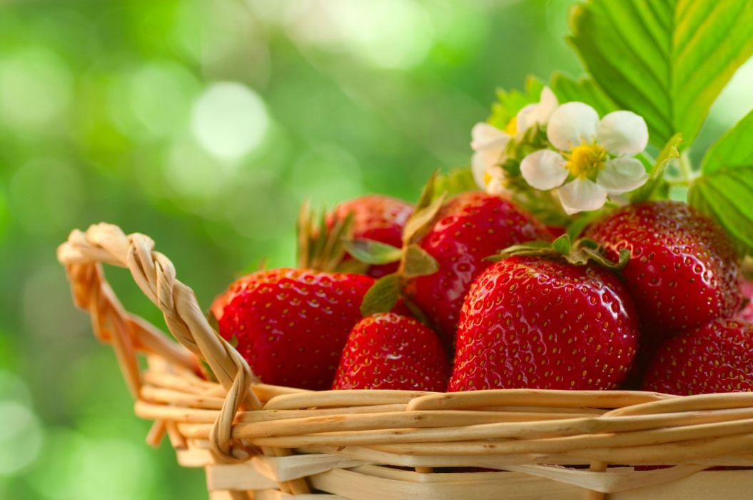 Fruit Strawberry Food Strawberries wallpaper