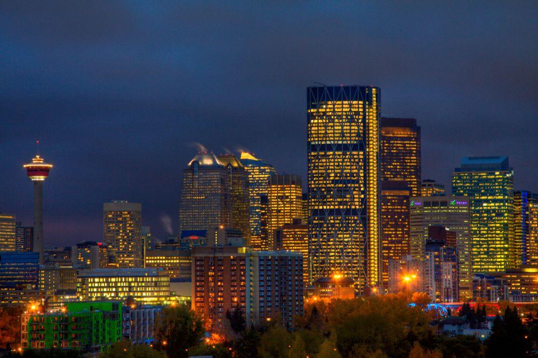 city canada buildings Alberta Calgary wallpaper