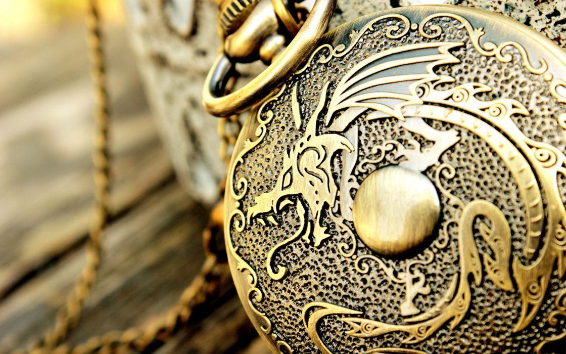 macro  medallion  metal  pattern  design  dragon fantasy watch clock time dragons metal bokeh wallpaper