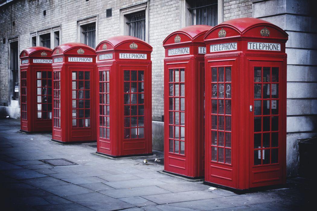 phone booth london street england telephone bokeh wallpaper
