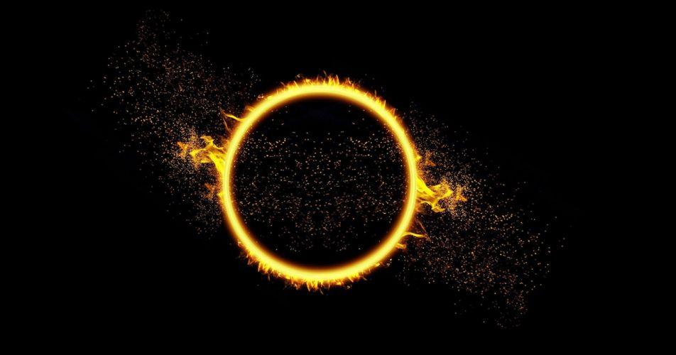 spray circle fire sun drops bokeh wallpaper