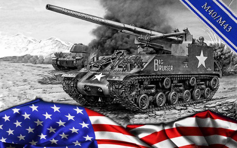 world of tanks m40-m43 tank military wallpaper