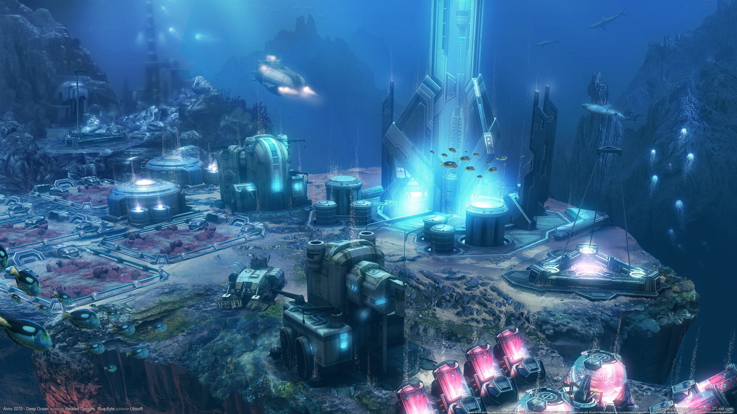 Anno 2070 Deep Ocean Sci Fi Underwater City Wallpaper