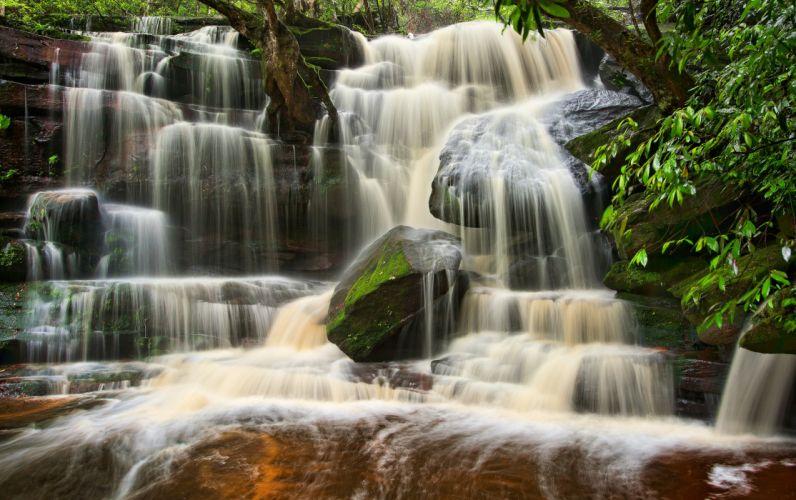 Australia cascade waterfall wallpaper
