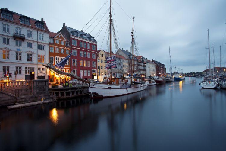 Nyhavn New Harbor waterfront dock wallpaper