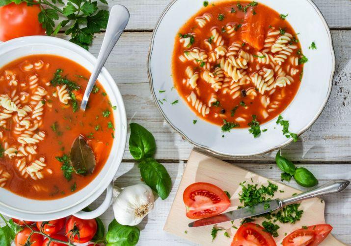 tomato soup pasta tomatoes garlic wallpaper