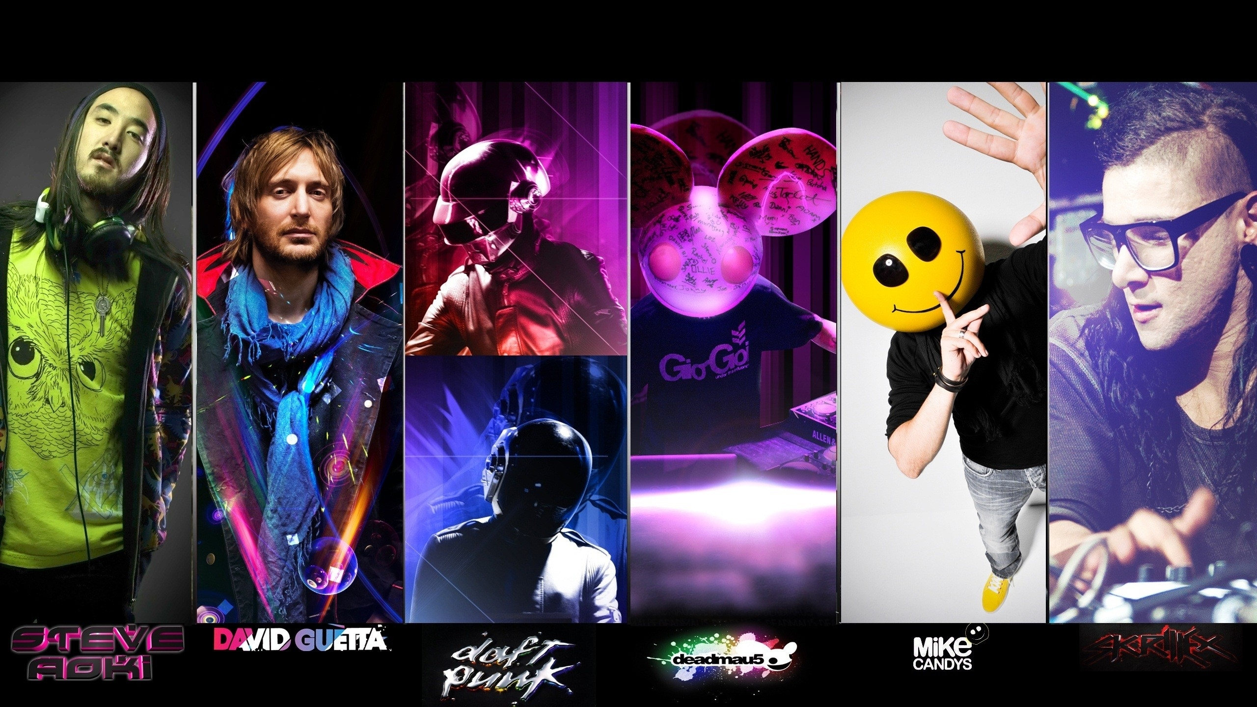 daft punk houses djs techno deadmau5 steve aoki david guetta skrillex    Deadmau5 And Skrillex And Daft Punk