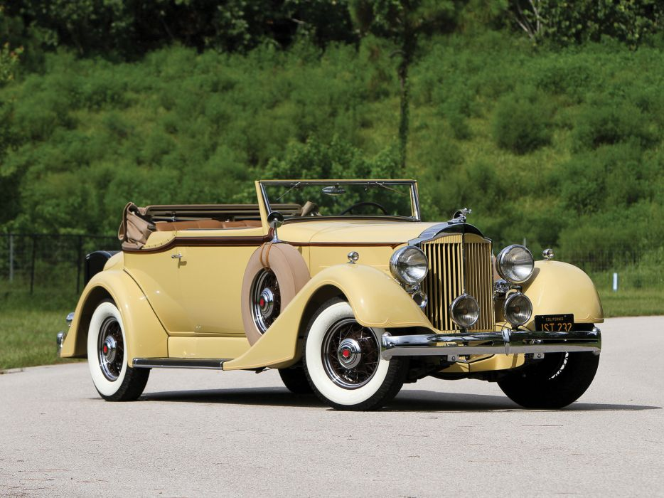 1934 Packard Eight Convertible Victoria luxury retro   gs wallpaper